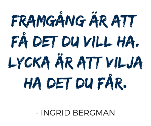 Framgång Ingrid Bergman